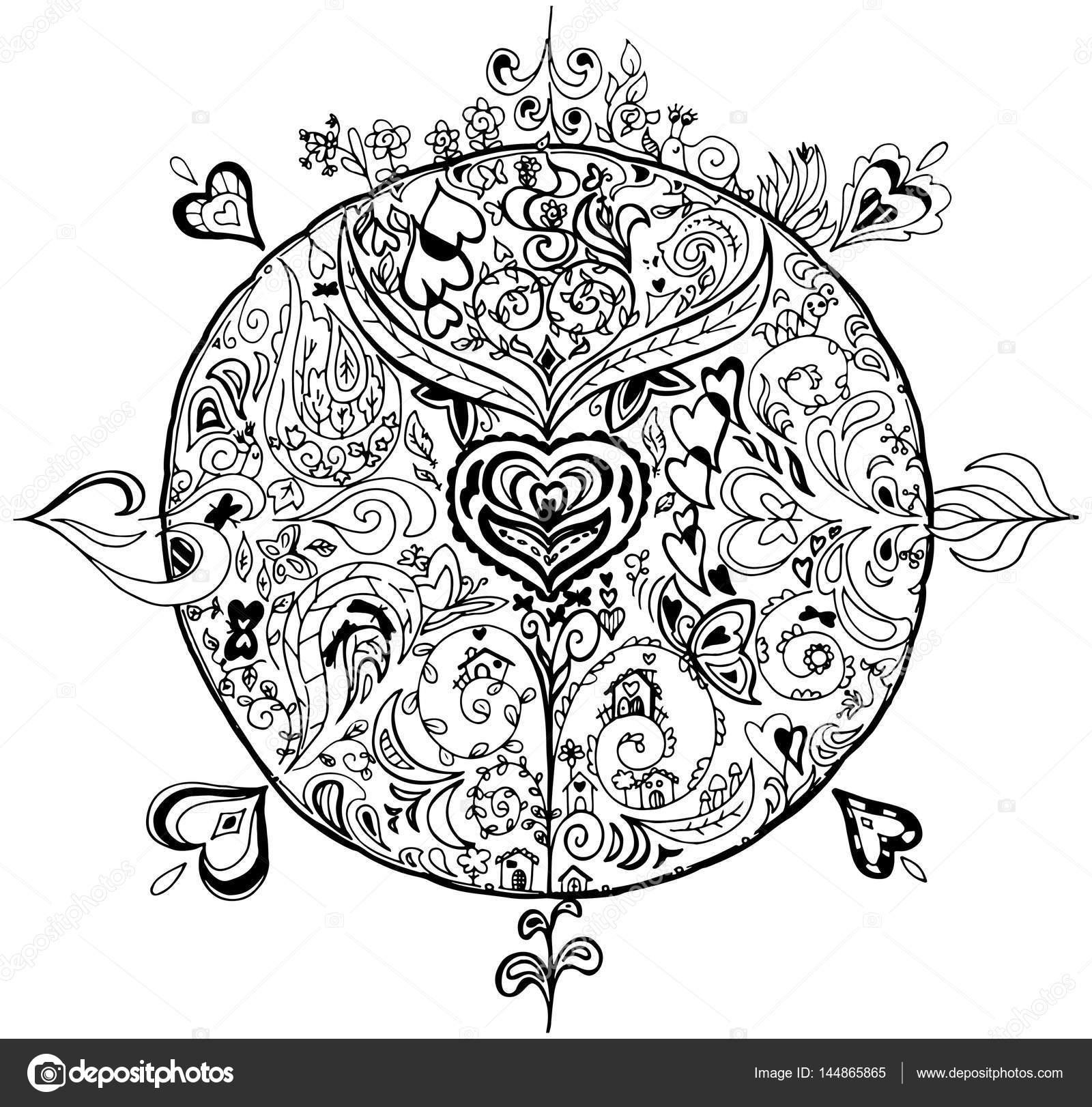 Mandala Indiano Da Colorare Pin Di Mariapia Brivio Su Da Colorare