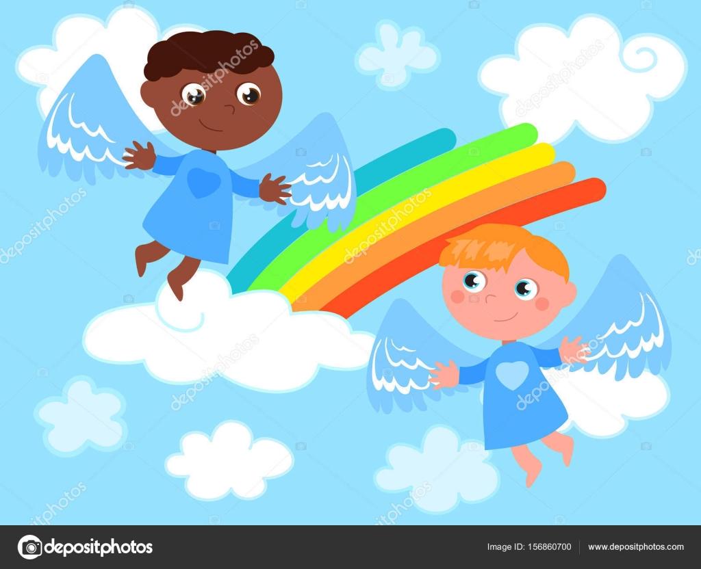 Imágenes Angeles Bebes En El Cielo Vector De ángeles Lindo