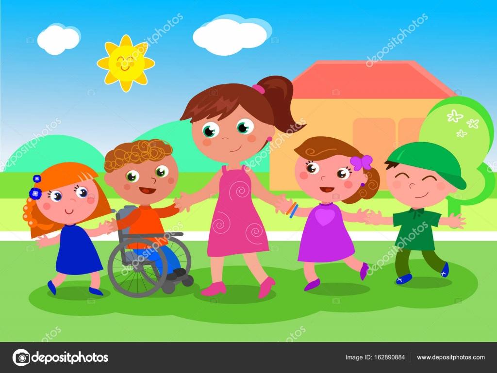 Animado: Niños De Colegio Animados