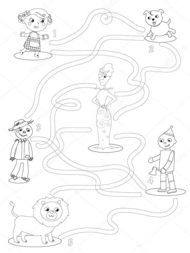 волшебник из страны оз раскраски лабиринт игры помощь