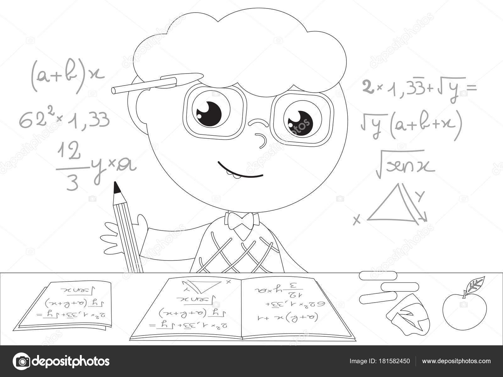 Imagenes Animadas Para Colorear: Dibujos: Matematicas Animados Para Colorear