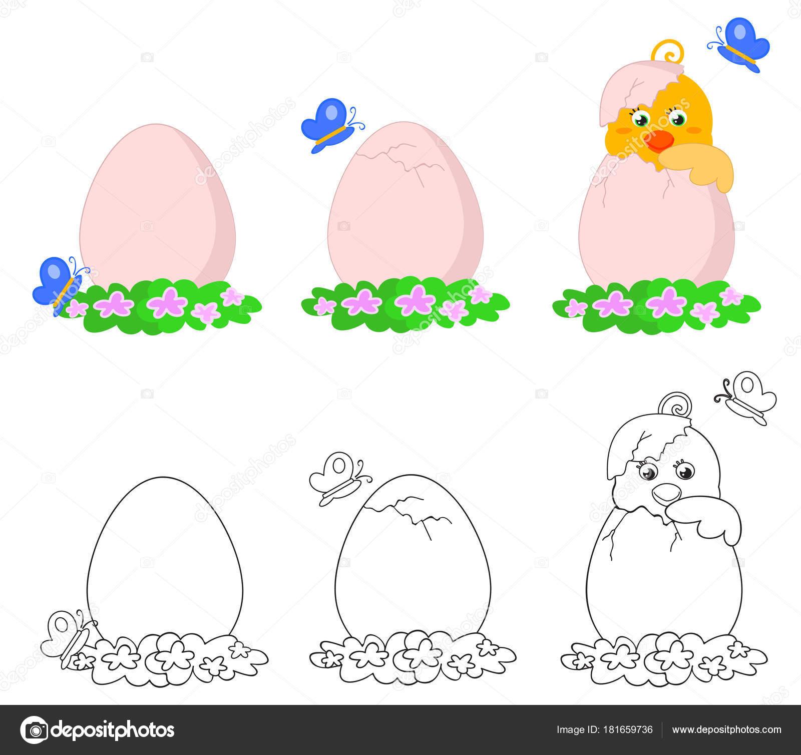 Vector de huevo lindo pip — Archivo Imágenes Vectoriales ...