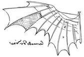 Photo Illustration of Leonardo da Vinci wing sketch