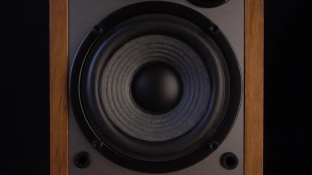 Játszottam a hangszórók membránján. Mélynyomó vibrál