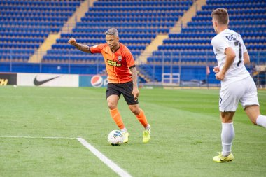 Kharkiv, Ukraine - September 14, 2019: Marlos during the match Ukraine premiere League Shakhtar vs Zorya