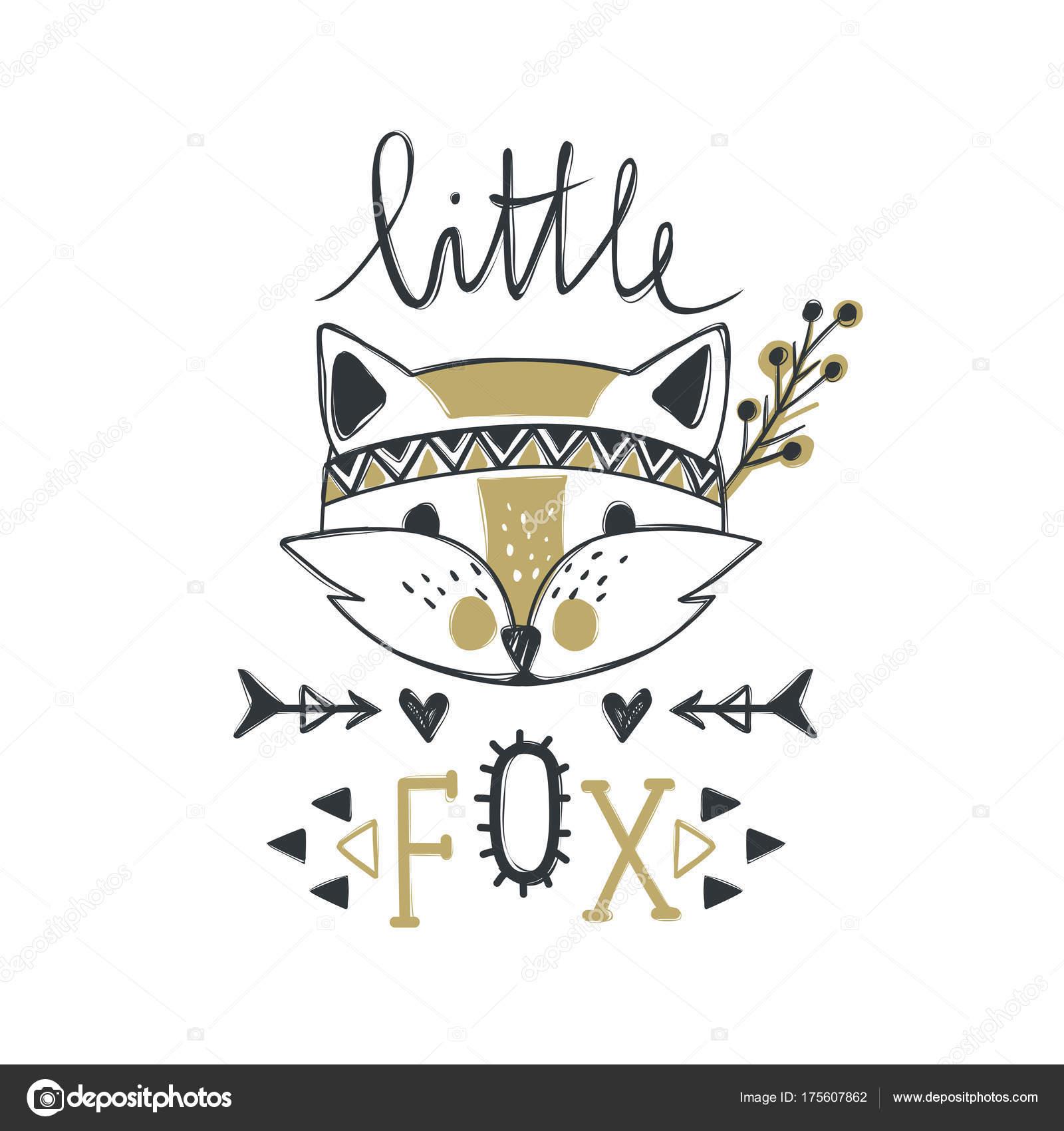 Fox Lindo De Vector Estilo De Dibujos Animados Retrato De Animales