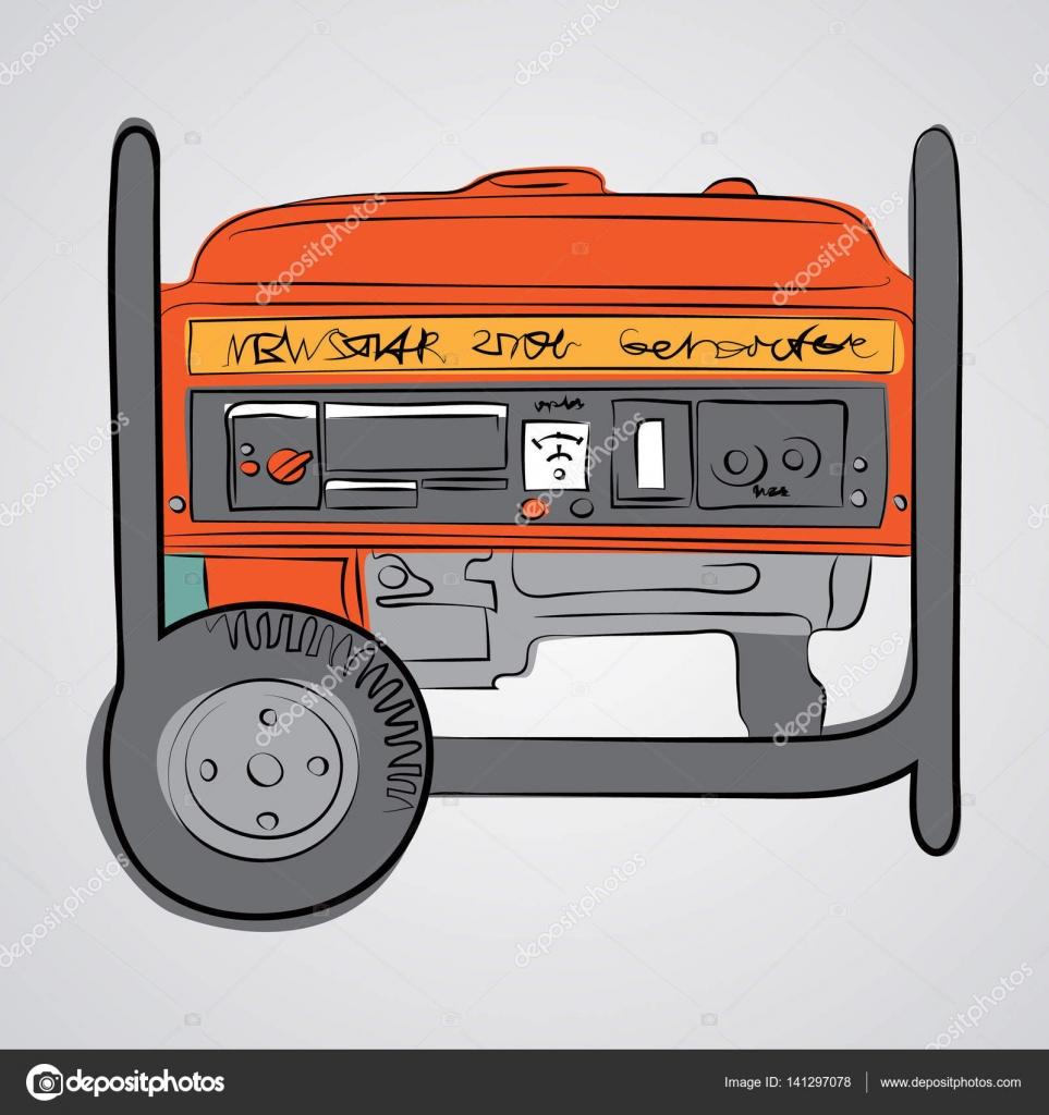 Diesel generator sketches style — Stock Vector © irkasmorodina8 ...