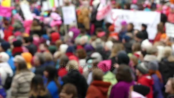 Womens march anonymous crowd