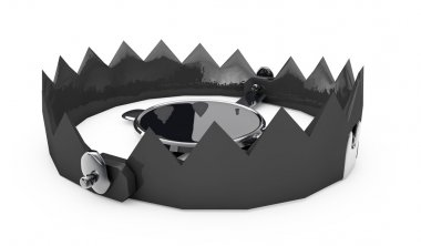 a 3d render of metal trap