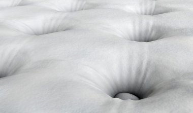 Background of comfortable mattress 3D render