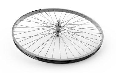 Realistic 3d render of bicycle wheel