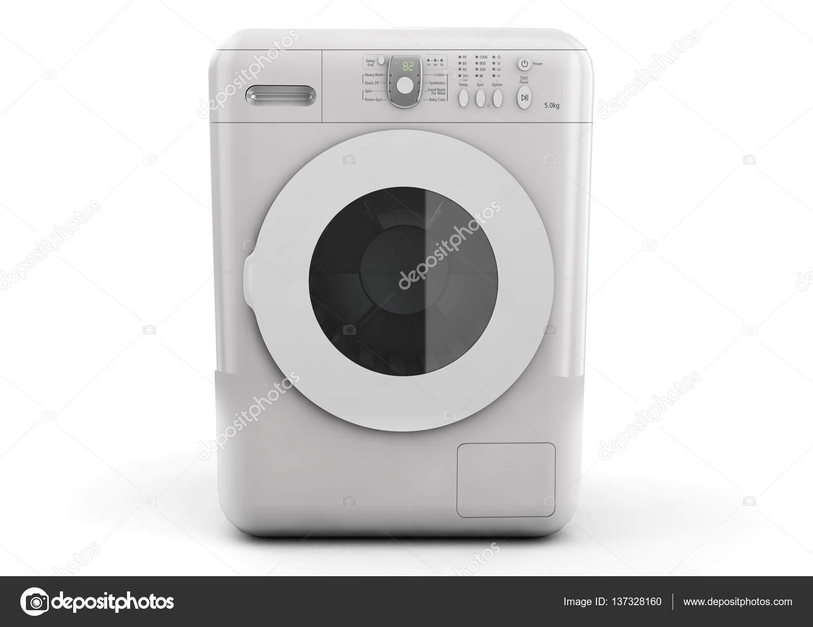 Moderne Waschmaschine moderne waschmaschine auf einem weißen hintergrund 3d rendering
