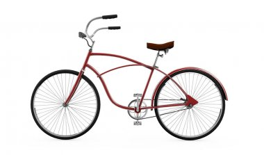 Red bicycle, Bike theme elements, Street speed sport bicycle, Bi