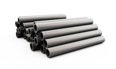 3d render of concrete pipe