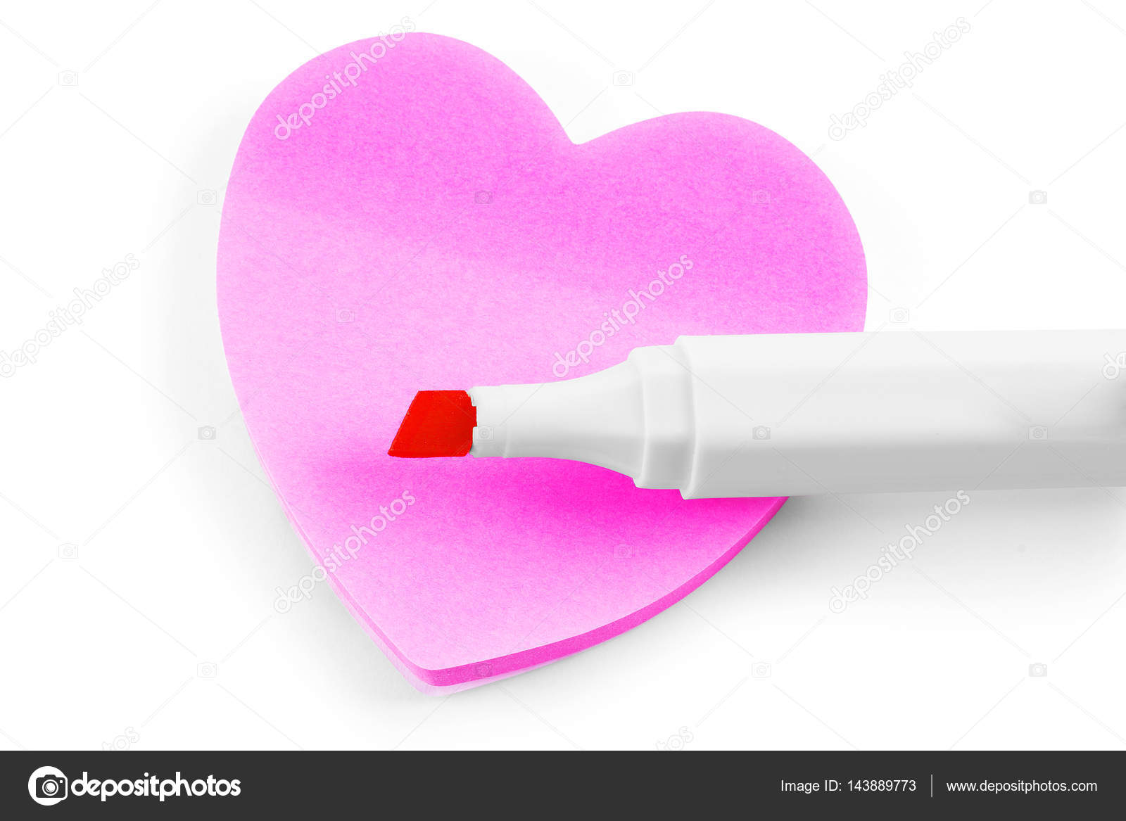 colorful sticky note heart shape stock photo vadarshop 143889773