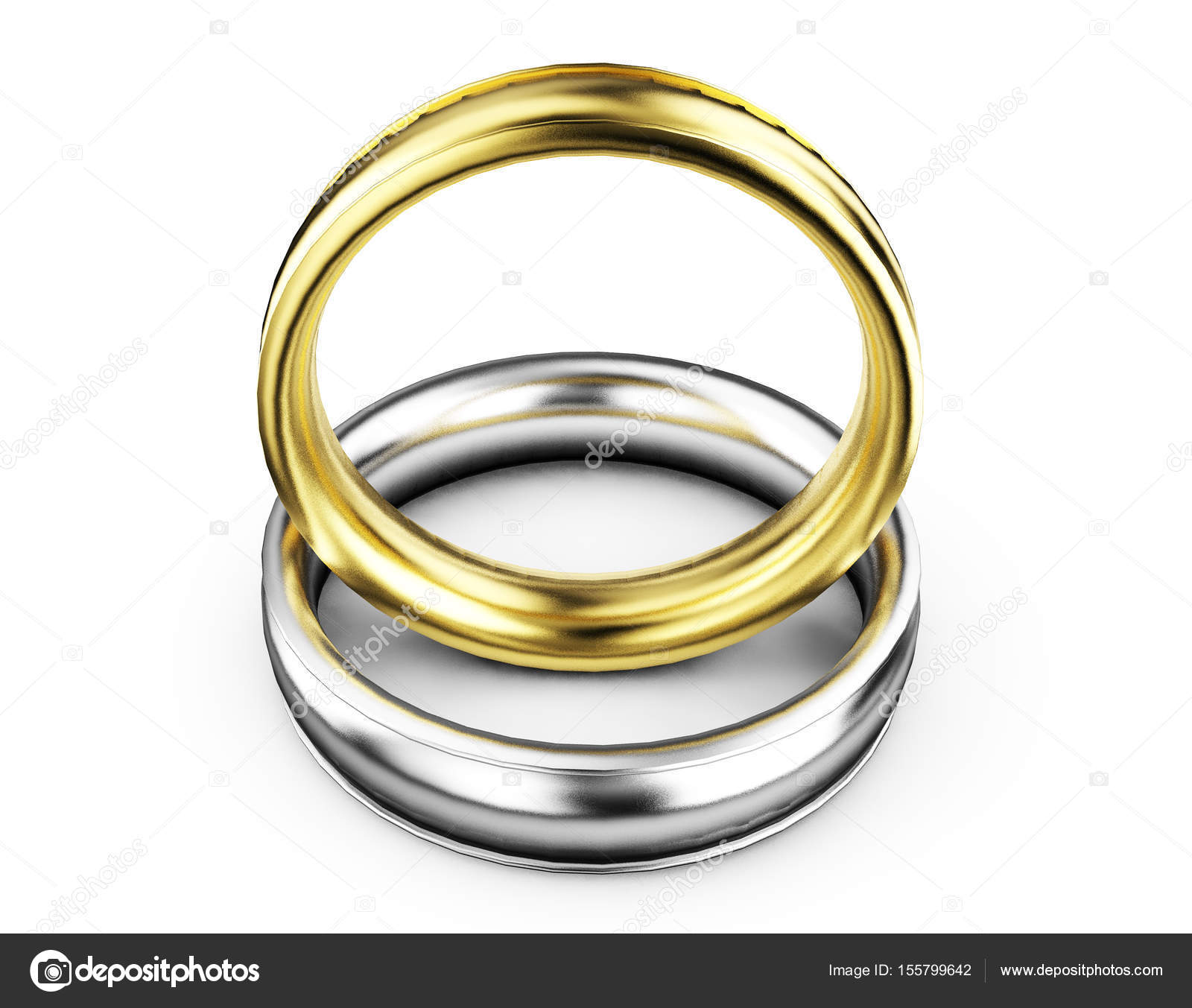 of gold two symbol depositphotos couple vector rings on golden stock marriage illustration isolated