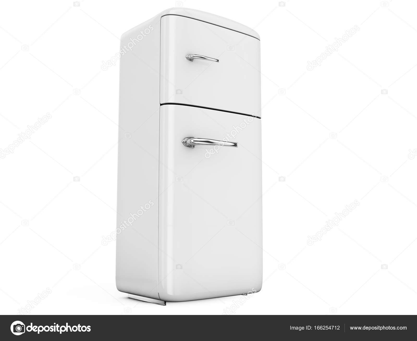 Retro Kühlschrank Doppeltür : Retro kühlschrank isoliert auf weißem background d render