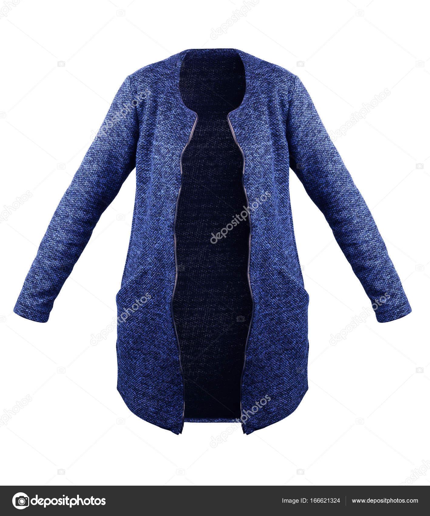 63fd50d0dace Κομψό μπλε μάλλινο παλτό απομονωθεί σε λευκό — Φωτογραφία Αρχείου ...