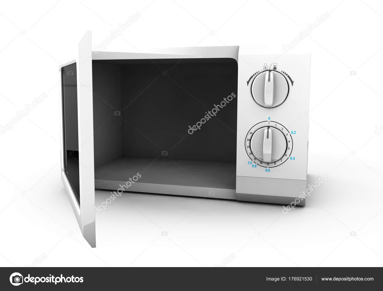 horno de microondas realista en aislado, cocina objeto 3d sobre ...