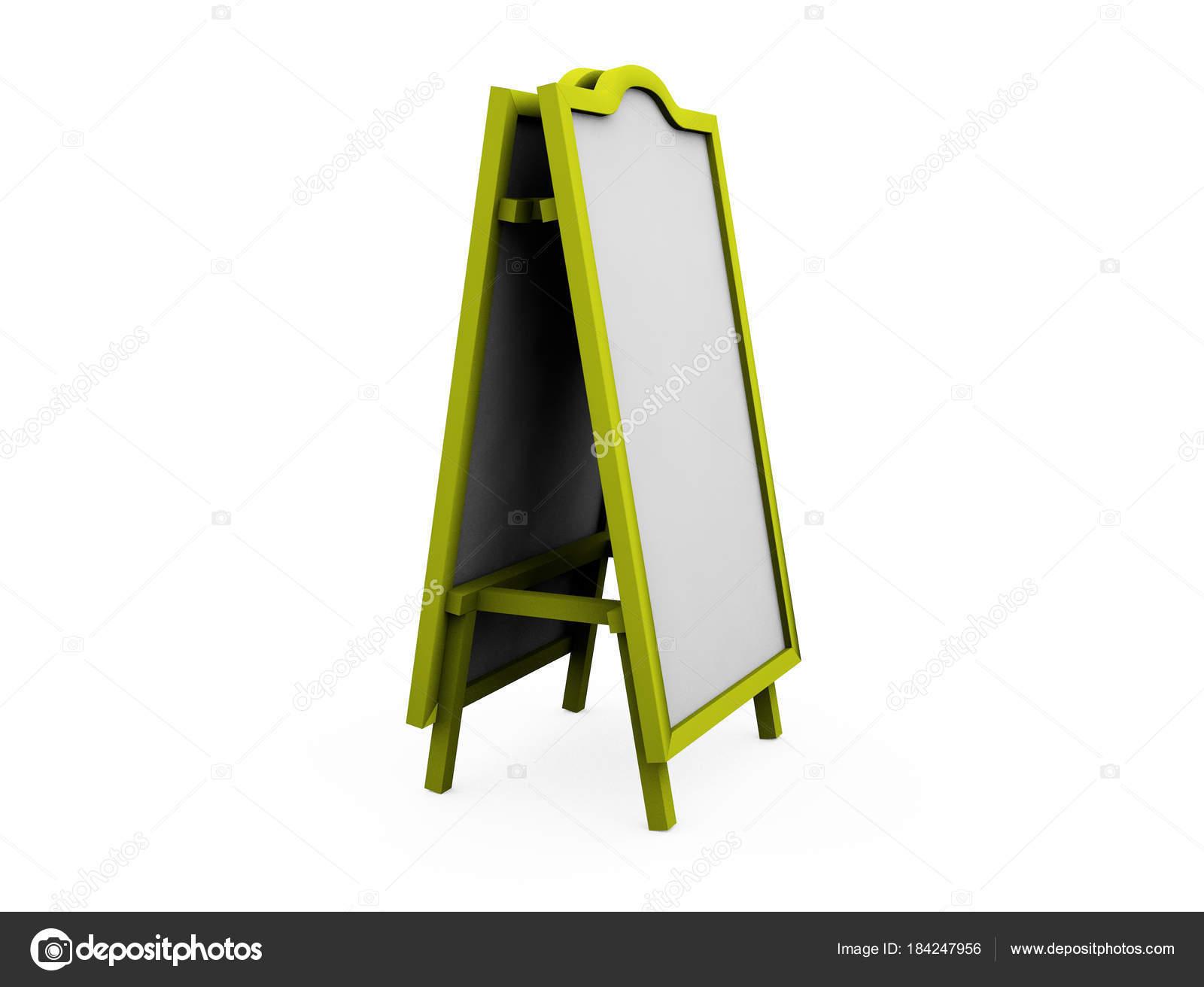 concepto de diseño de proceso en seco borrar el tablero, render 3d ...