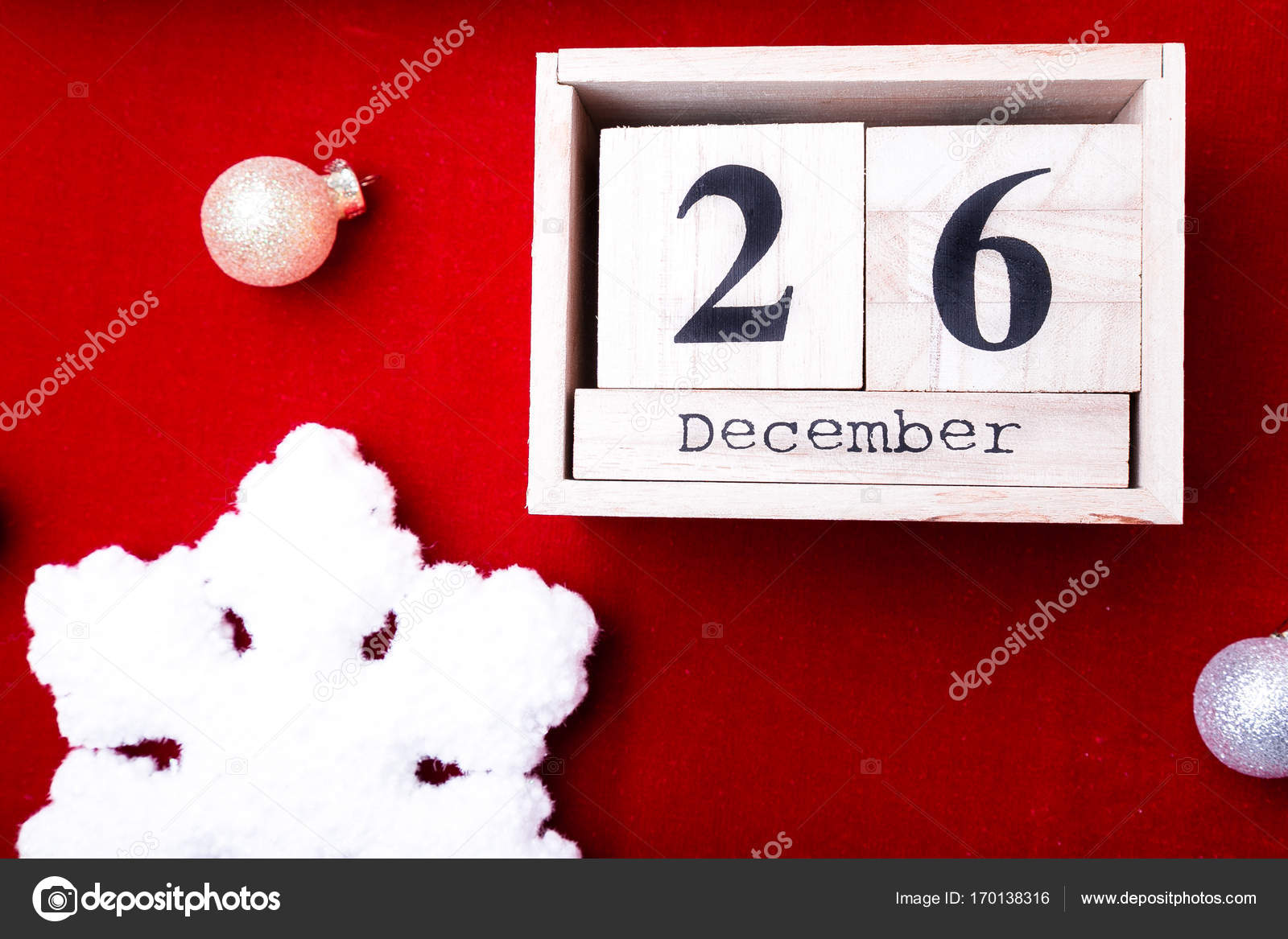 Weihnachten Datum.Boxing Day Sale Kalender Mit Datum Auf Rotem Grund Weihnachten