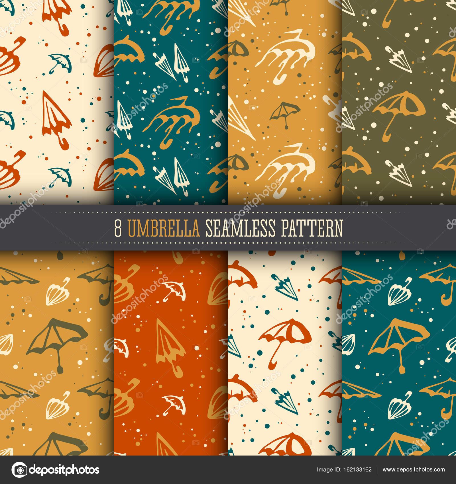 Hochwertig Regenschirme Einfach Nahtlose Muster Kollektion. Helle Farbe Vorlagen Set  Für Design Textil  Und Tapeten U2014 Vektor Von Kachura.olga@gmail.com