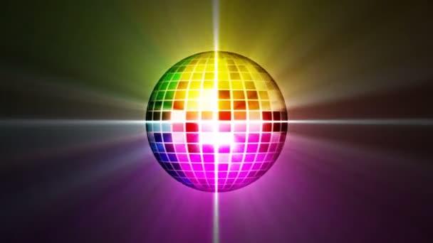 disco mirror ball forog, a hurok