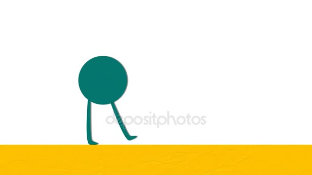 Animace postav karikatuře kruh