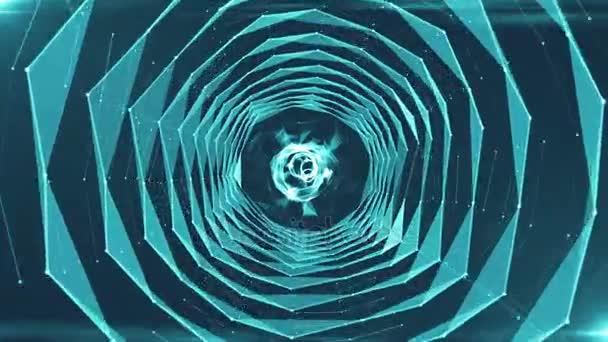 Abstraktní pozadí s trojúhelníky tunel. Bezešvá smyčka