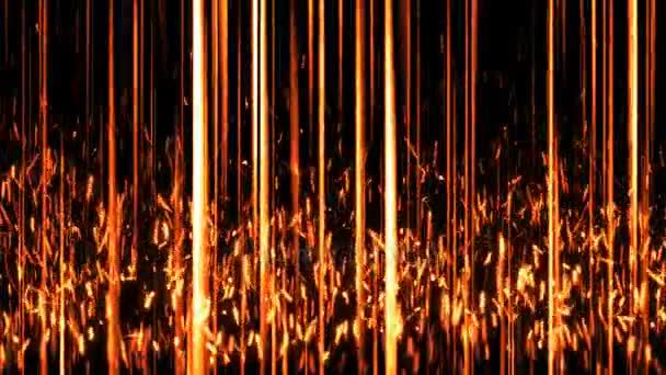 Abstraktní pozadí se svislými čarami a částic
