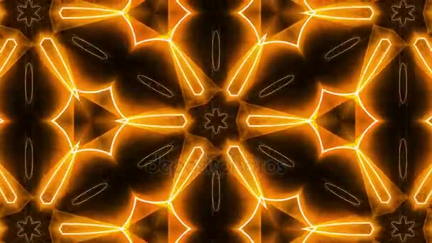 Fractal orange kaleidoscopic background