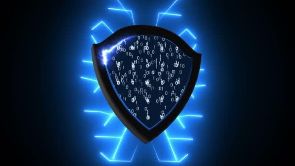 Absztrakt háttér Security Shield. Számítógépes háttér. 3D-leképezés