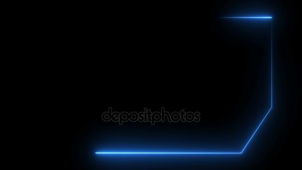 Abstraktní pozadí s rámečkem, neon