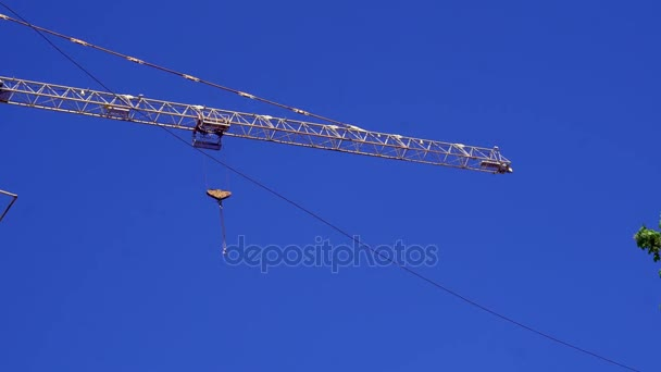 construction crane at a construction site of a multistory building