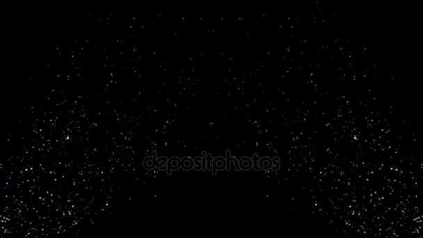 Animace barevné padající konfety alfa kanál obsažený