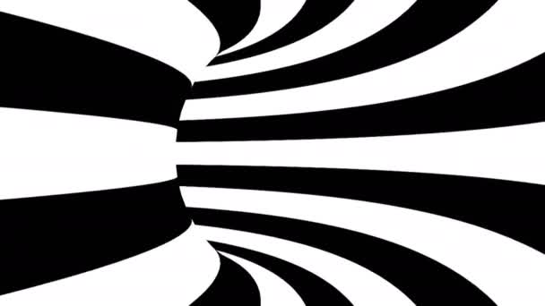 Černá a bílá hypnotické tunel. Bezešvá smyčka