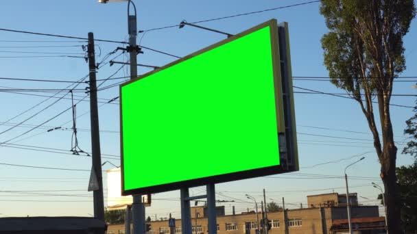 Blank billboard with green chroma key