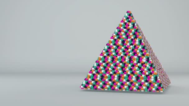Abstract background with futuristic colorful pyramide