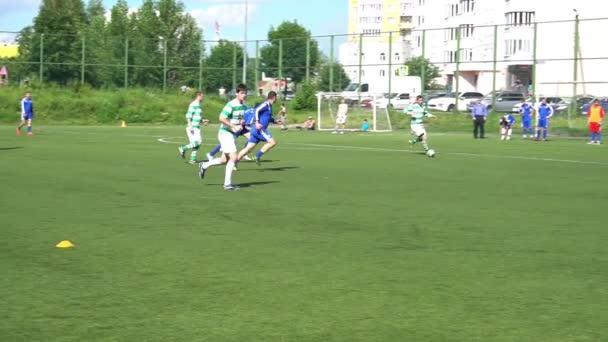 Kursk, Rusko - červenec 3: fotbalový zápas Mistrovství amatérských týmů