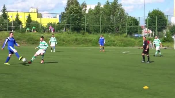 KURSK, RUSSIA - Július 3: labdarúgó-mérkőzés a bajnoki amatőr csapatok