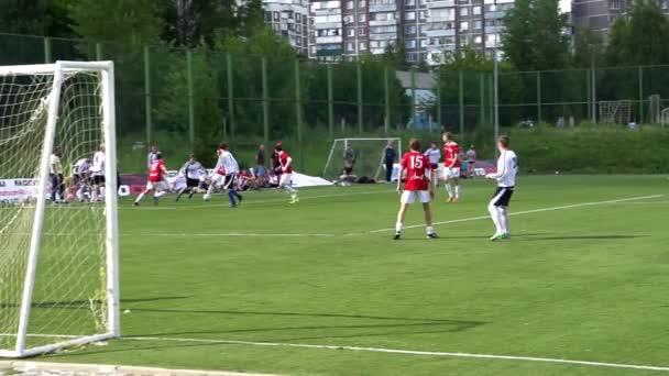KURSK, RUSKO - JULE 3: fotbalový zápas mistrovství amatérských týmů