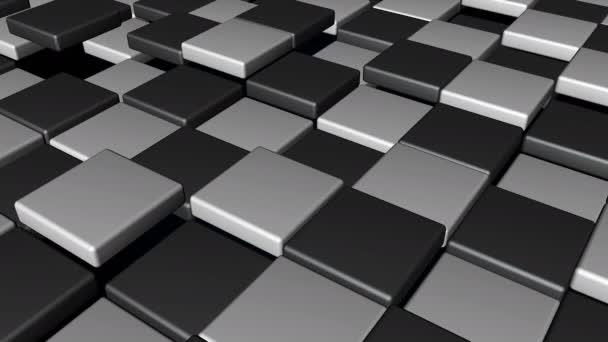 Náhodný pohyb v pozadí abstraktní kostky