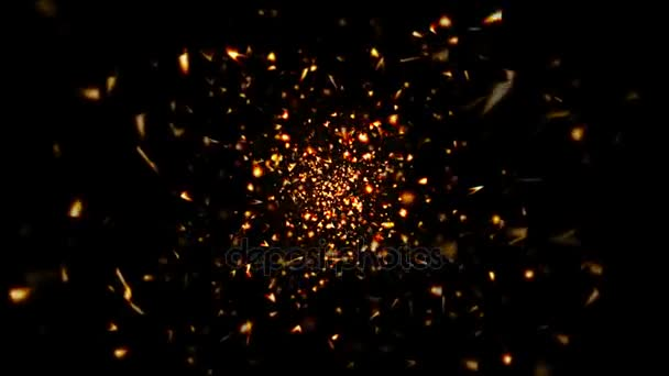 Abstraktní pozadí zlatých částic a obrazců. Bezešvá smyčka