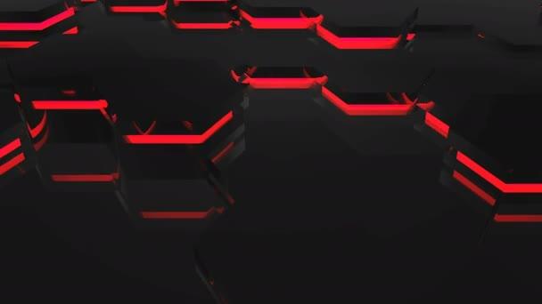 abstrakt mit roten Sechsecke
