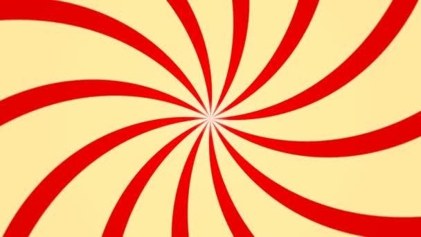 Abstraktní pozadí s animací slunečních paprsků. Retro radiální pozadí. 3D vykreslování