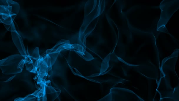 Realistic smoke on black background