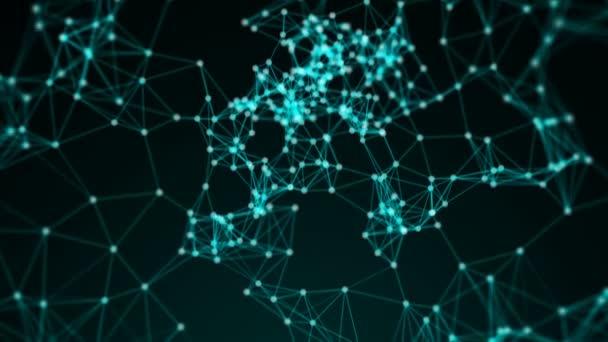 abstrakter Hintergrund mit Verbindungspunkten. 3D-Darstellung