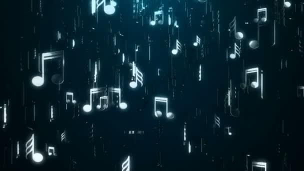 Note di musica bianca. Sfondo astratto. Illustrazione digitale