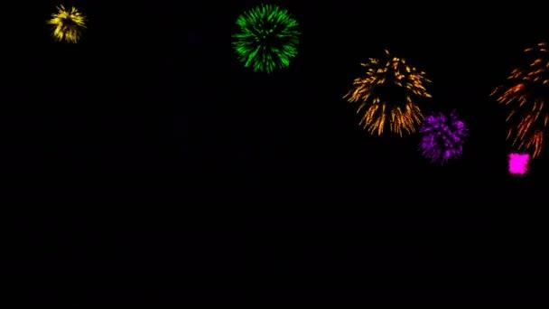 Abstraktní pozadí s ohňostrojem. CG animace
