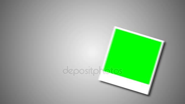 Polaroid keret zöld képernyő a fotó